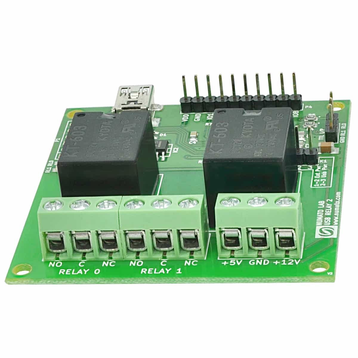 Sinelec Technologies 2 Channel Relay Board Usb Module